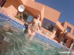 Picture Abigail Mac Pool Fun