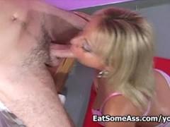Jasmine Tame Eats Ass Hole like a hungry dog for a nice facial
