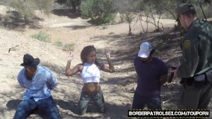 Little latina gets fucked and cum covered by patrol officer