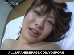 Japanese AV Model with pus ups has hairy nooky in huge drilling