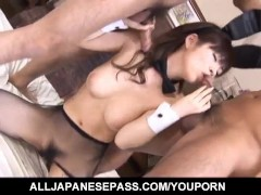 Picture Ran Monbu sucks dick and is nailed in hairy...