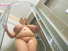 Alice 85JJ fully nude in shower