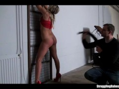 Picture Barra Brass bound gagged caged spanked whipp...