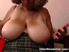 Granny Brenda's bingo night turns into a masturbation frenzy