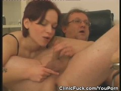 Female Doctor Sucks His Patients Cock