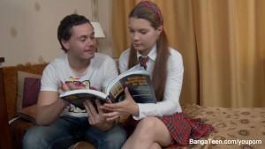 Little schoolgirl's anal fantasies come true