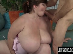 Huge boobed Luxxxy Luxe fucks an older guy