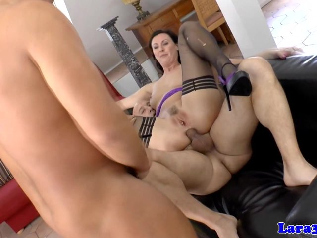 Mother and girl lick pussy