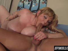 Picture Big titted BBW Kali Kala Lina rides a fat co...