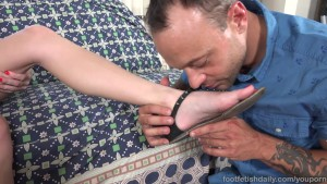 Cadence Lux Hot Blonde Has Her Sexy Feet Covered in Cum