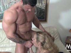 Picture MMV FILMS Sexy Granny tries fresh jock meat