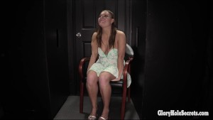 Glory hole Secrets Tiff Banister sucking off strangers cocks