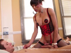 Venus Lux Fucks His Asshole And Jerks Cock