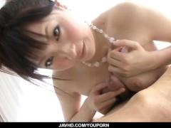 Picture Rika Sonohara engulfs a big dick and sucks i...