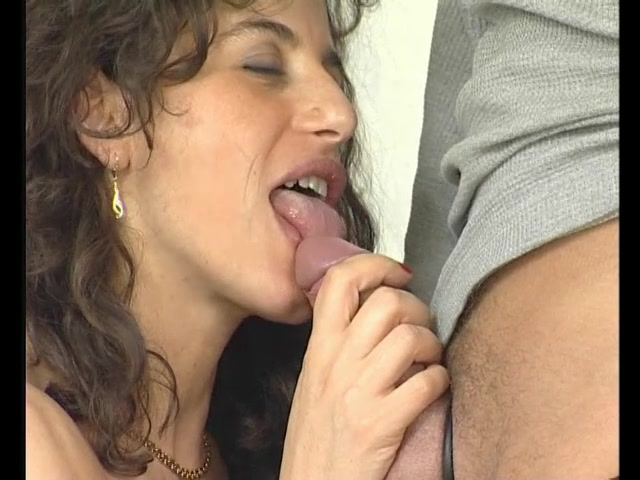 image Brunette shows german blowjob and standard fuck