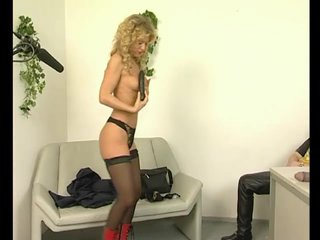 Stockings Blonde Milf video: What an audition! - Julia Reaves