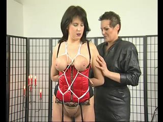 Bondage Brunette Chubby video: Busty milf gets a bit tied up - Julia Reaves