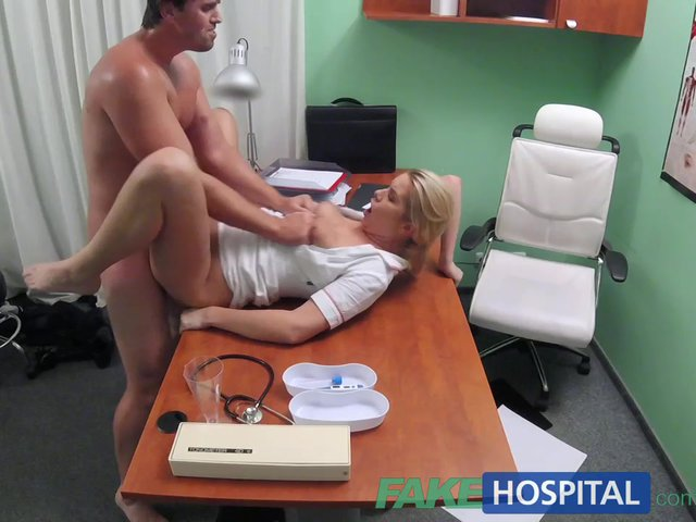 image Fakehospital nurse cures studs depression by letting him cum