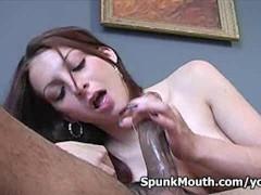 Exotic lovely girl Jordan O Neil Sucks Fucks Big Cock for messy facial