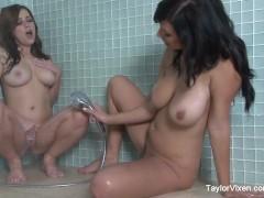 Taylor Vixen Lesbian Shower