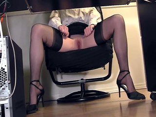 Compilation Legs Masterbate video: Compilation of secretary legs and masturbation