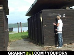 Picture He slams 70 years old granny in the changing...