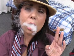 Picture Holly West Tugs While Smoking