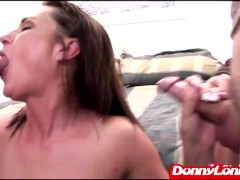 Picture Donny Long tag teams milf mom and gives her...