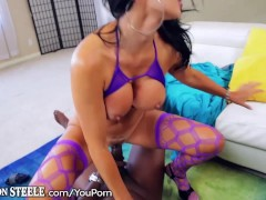 Picture Jasmine Jae rides a 1Foot Black Cock