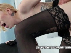 Picture Slutty coed Maia Davis is getting pounded by...