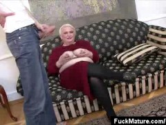 Picture Mature Honey Blowing Two Guys