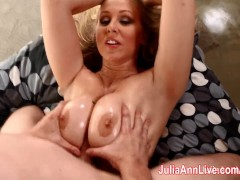 Picture Julia Ann Lets Him Titty Fuck Her Big Tits
