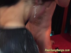 Picture Horny german gangbang party chicks