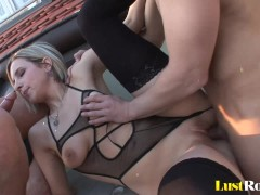 Picture Two handsome guys get to explore Bianca Ferr...