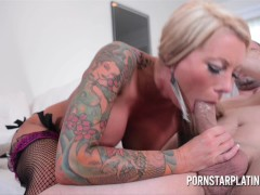 Picture Hot Blonde Tattoo MILF Lolly Ink Gets Fucked