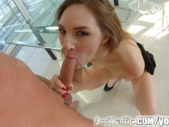 Picture Asstraffic redhead is bent over and fucked i...