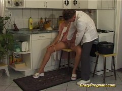 Picture Extreme horny pregnant houswife