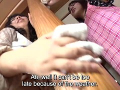 Picture Subtitled Japanese risky sex with voluptuous...