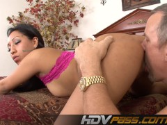 Picture Blowjob and deep asslick with brunette Lesli...