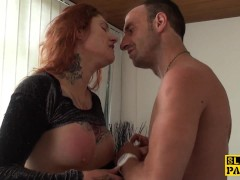 Picture Tattooed british sub dominated with anal