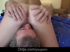 Picture Petite horny housekeeper fucking French old...