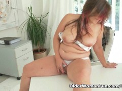 Picture Well rounded milf Riona takes a masturbation...