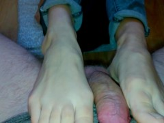 Picture THE BEST FOOTJOB IN JEANS ON THE FLOOR