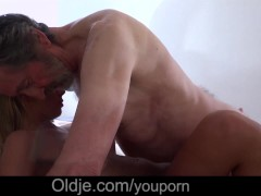 Picture Horny young lips wrapped on old cock sucking...