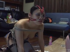 Picture Subtitled mixed Japanese BDSM on a leash wit...