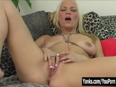 Picture Horny Blonde Xana Masturbating