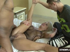 Picture Blonde wife black cock in asshole