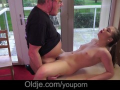 Picture Old hubby in porn casting caught by Young Gi...