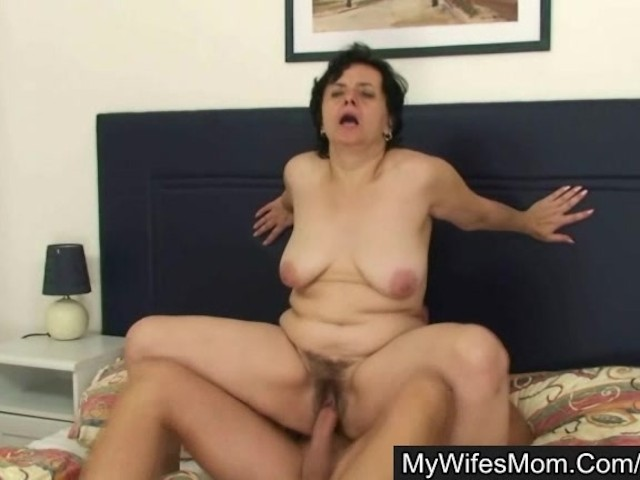 Blonde motherinlaw sucks and rides his big meat 6