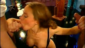 Two Lesbians in a Gangbang Cruise